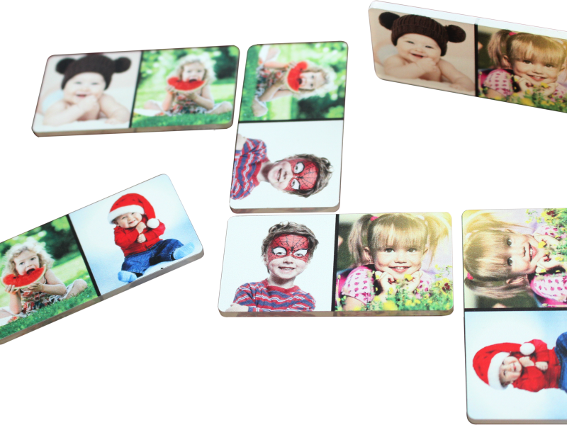 domino s vlastnými fotkami