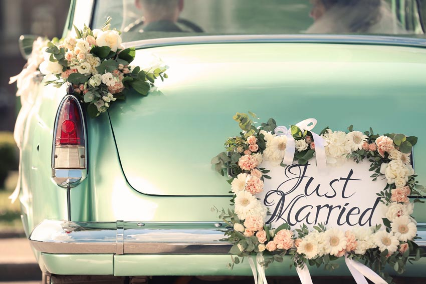 Auto s špz Just Married