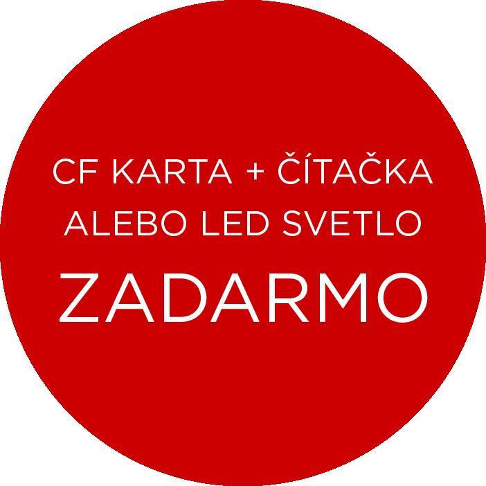 CF karta alebo led svetlo zadarmo