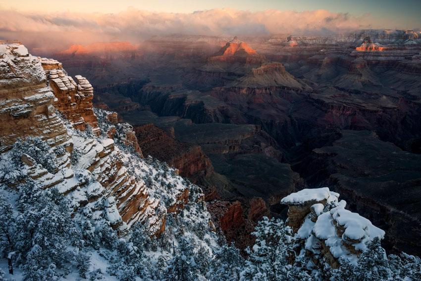 Aj v Grand Canyone môže snežiť.