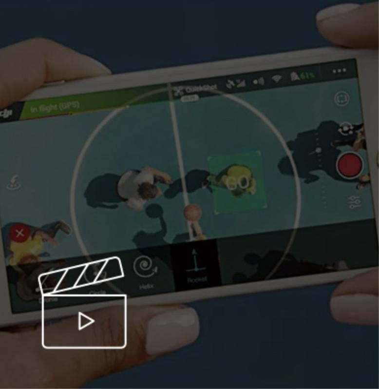 bf3a90185 Aplikácia DJI GO 4 obsahuje automatické editovacie šablóny a množstvo  filtrov. Rýchlo upravte svoje video a zdieľajte ich priamo na sociálne  siete.