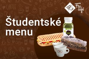 Študetské menu vo FaxCafé