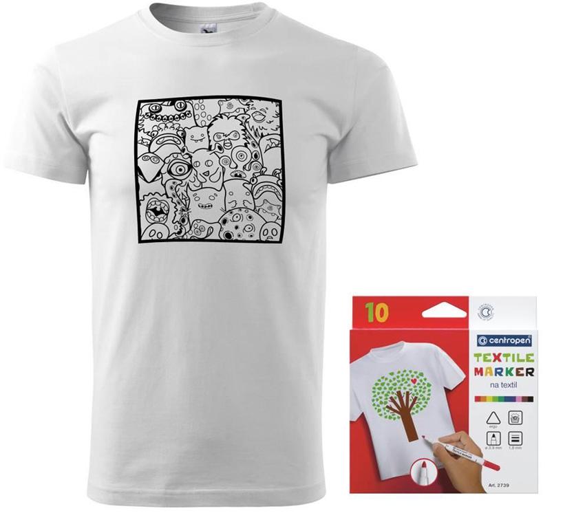 Vyfarbovacie tričko s fixkami na textil