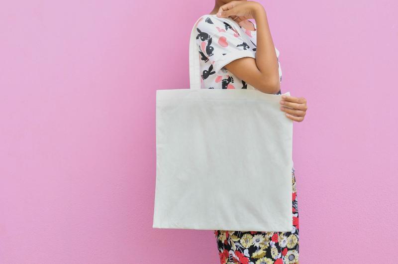 plátenná taška cez rameno