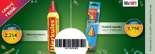 Zľavový kupón FaxCOPY na lepidlo a farbičky
