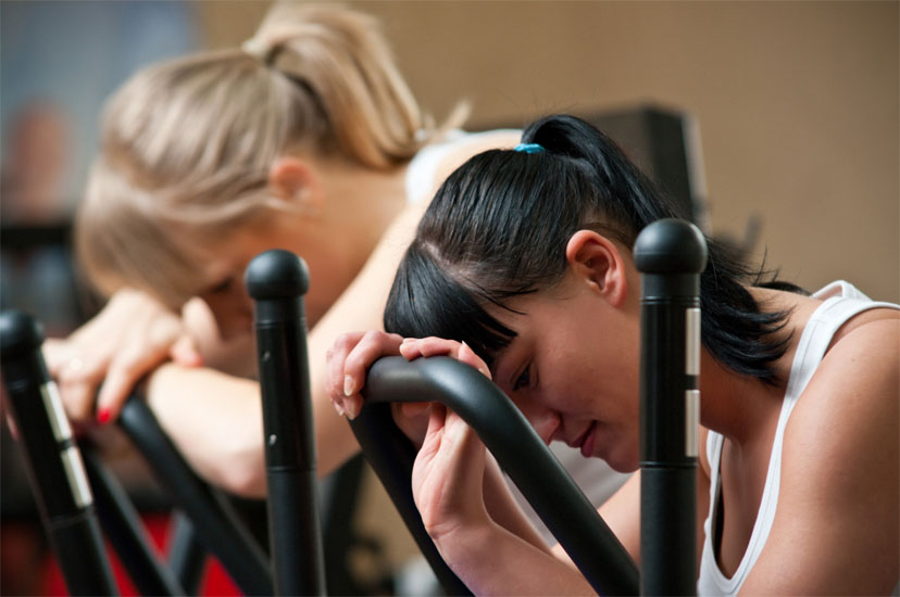 Unavené ženy na rotopedu
