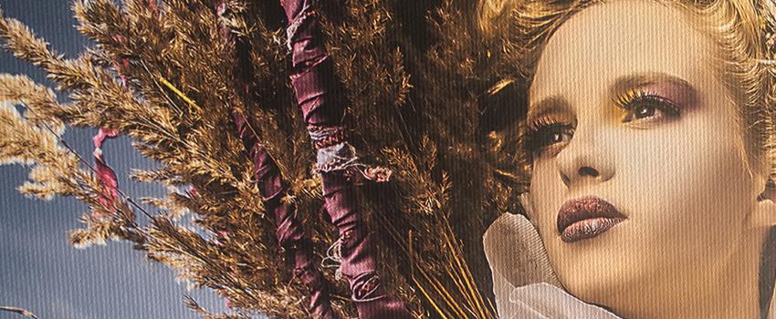Detail plátna fotoobrazu od FaxCOPY