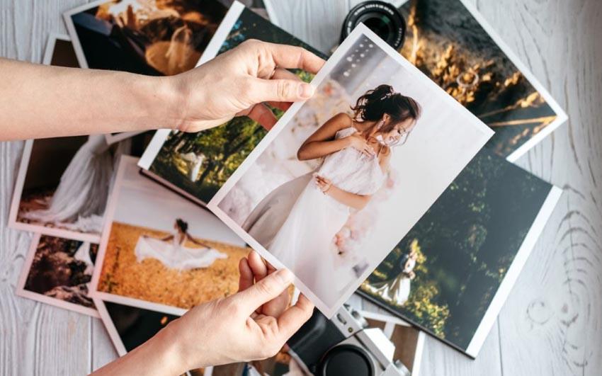 Vytlačené svadobné fotografie