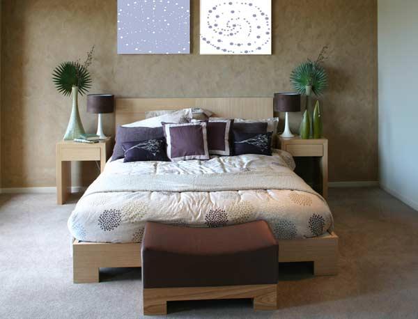 Spálňa ladená do hnedej farby