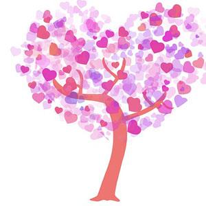 Strom v tvare srdca