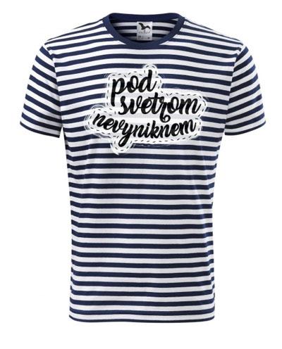 Pásikavé tričko s vlastnou potlačou