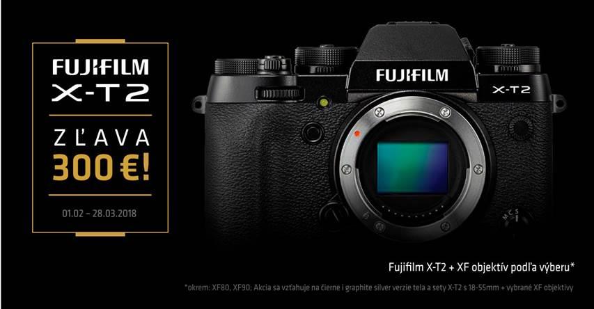 Fujifilm X-T2 akcia 300€ zľava