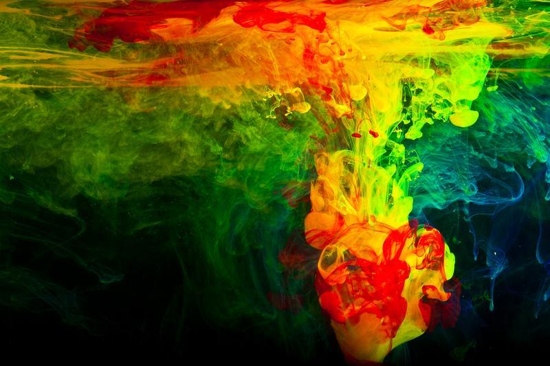 Abstraktný obraz farebný