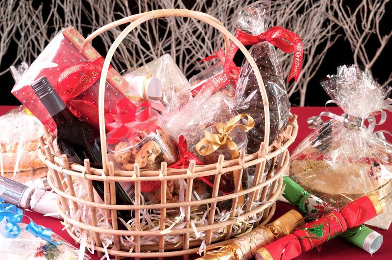 Vianočný darčekový kôš