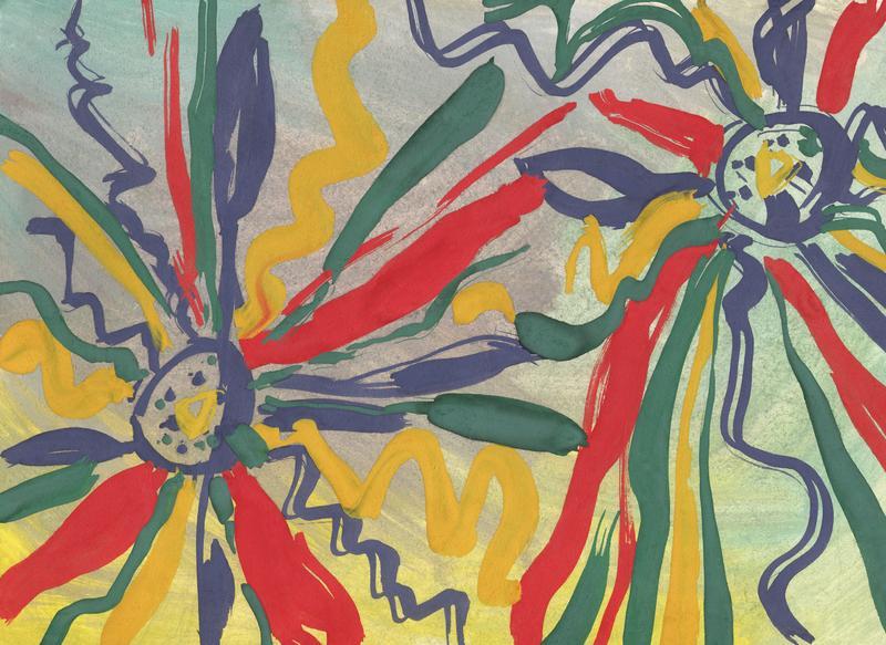 Abstraktný obraz kvetín