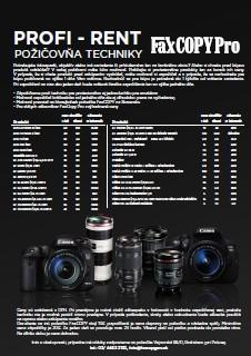 FaxCopy Pro požičovňa fototechniky - profirent