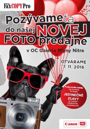 e3ccd04a36 Otvárame novú foto predajňu v OC Mlyny v Nitre