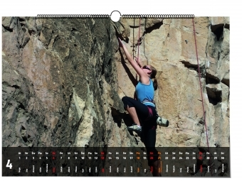 Nástenný kalendár s fotkou horolezkyne, Darčekyodsrdca.sk