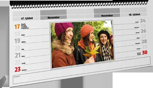 Stolný kalendár s vlastnými fotkami, Darčekyodsrdca.sk