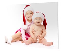 Fotoobraz s detičkami vo vianočných čiapkach, Darčekyodsrdca.sk