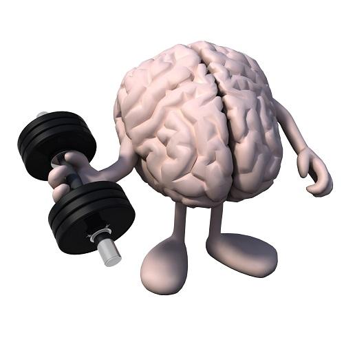 Mozog s činkou v ruke