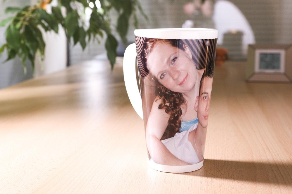 Šálka na latte s vlastnou potlačou, FaxCOPY