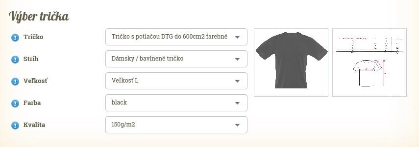 Výber trička online, FaxCOPY